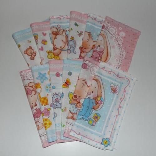 Детские Носовые Платочки (Т-01) 100% Хлопок