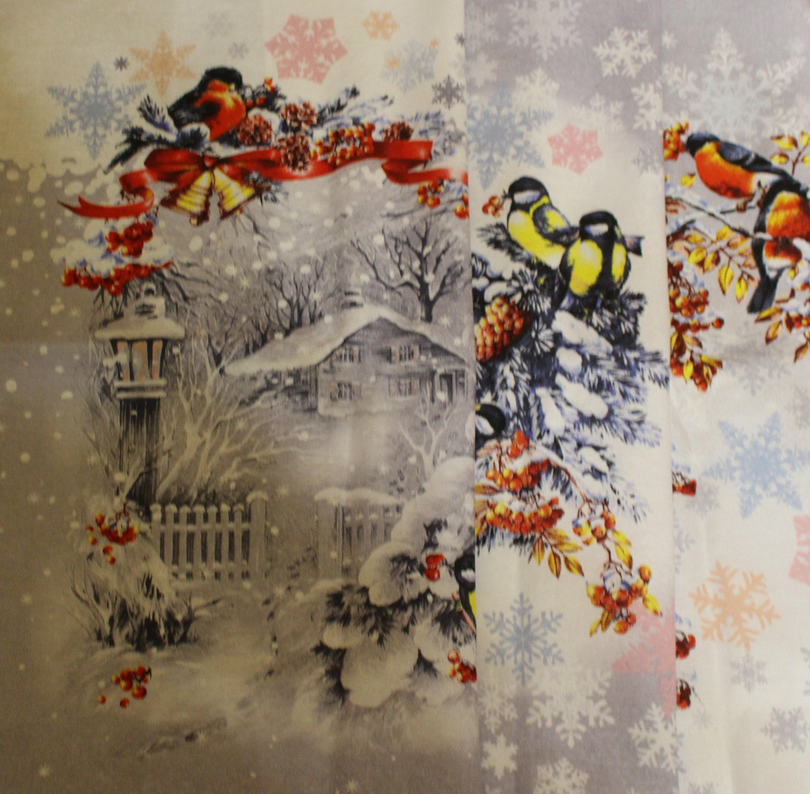 Полотеннца новогодние рогожка